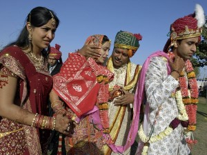 Indian Wedding Bride Vidai
