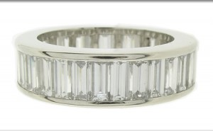 Diamond Baguettes Ring for Wedding