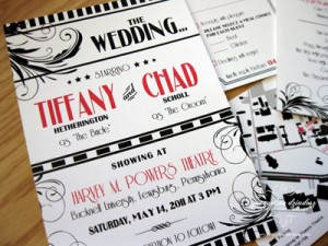 Hollywood Poster Wedding Card