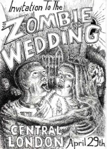Zombies wedding invitation Card