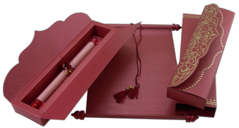 Indian Wedding Invitation Stationery