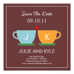 Coffee Dates Wedding Card