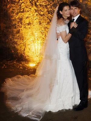 Katie Holmes Wedding Gown