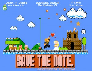 Mario Wedding Invitation Card