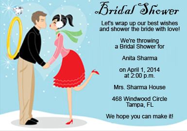 Sample Bridal Shower Invitation Wording