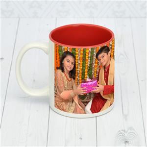 Personalized Rakhi Mug for brother, sister