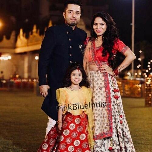 Indian Wedding Mom and Baby girl Dress for Photoshoot